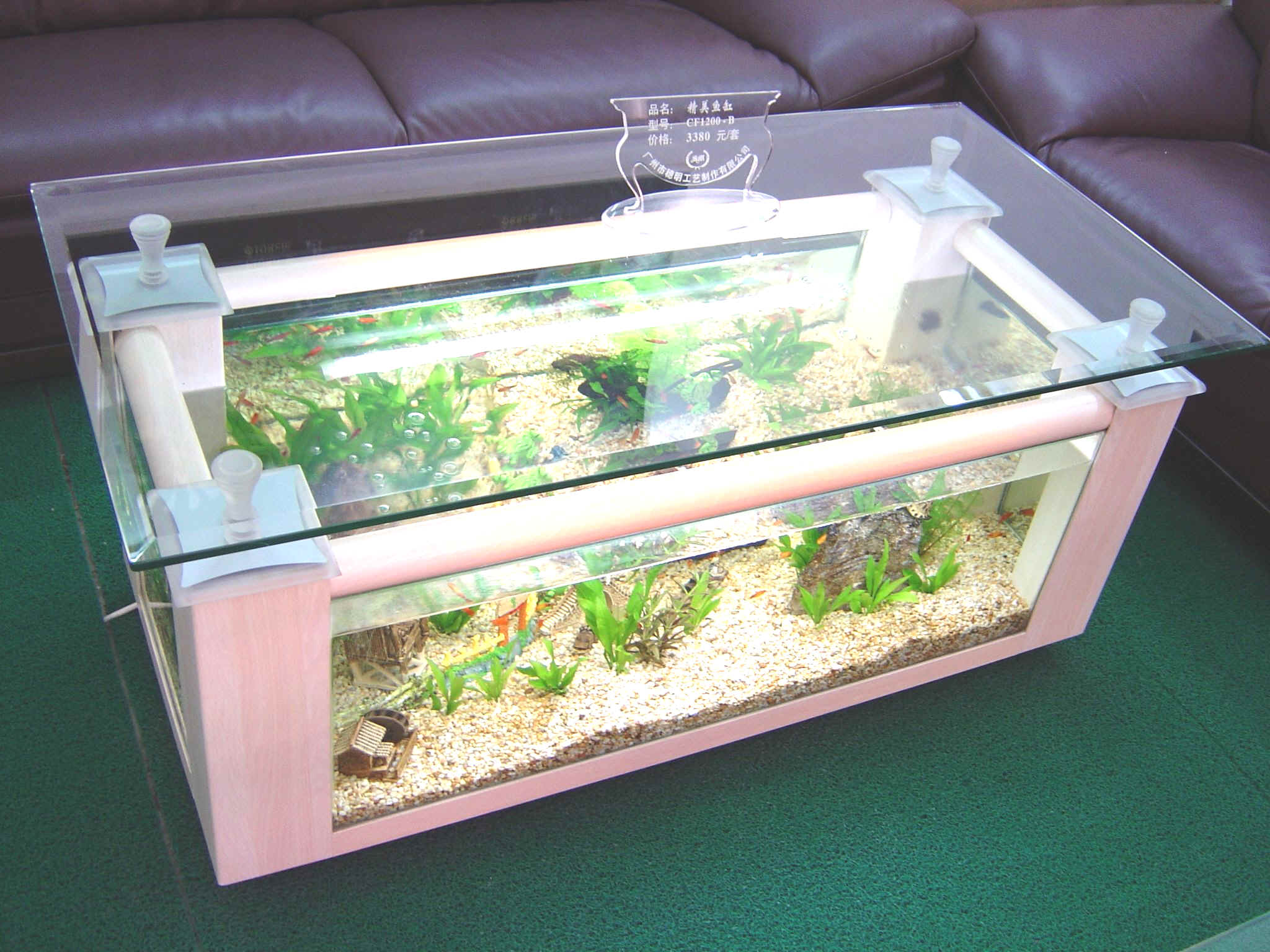 table aquarium fish tank interior home design home